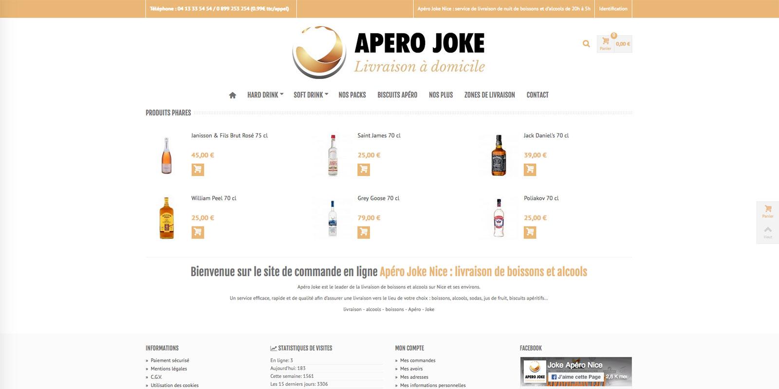 Référence - site boutique e-commerce Apéro Joke - Netcom Agency - Communication numérique