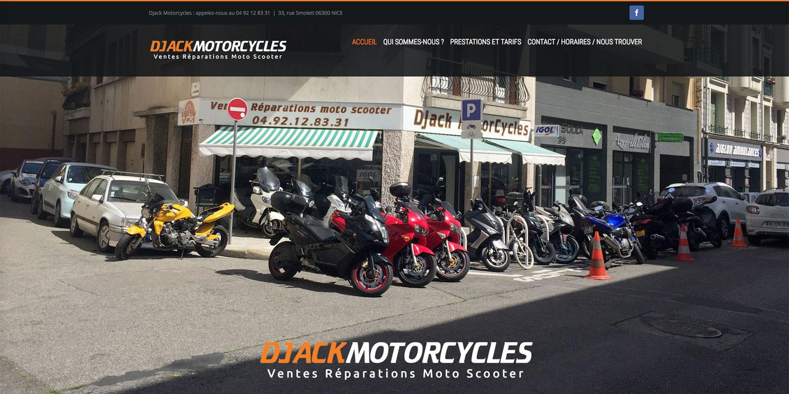 Référence - site Djack Motorcycles - Netcom Agency - Communication numérique
