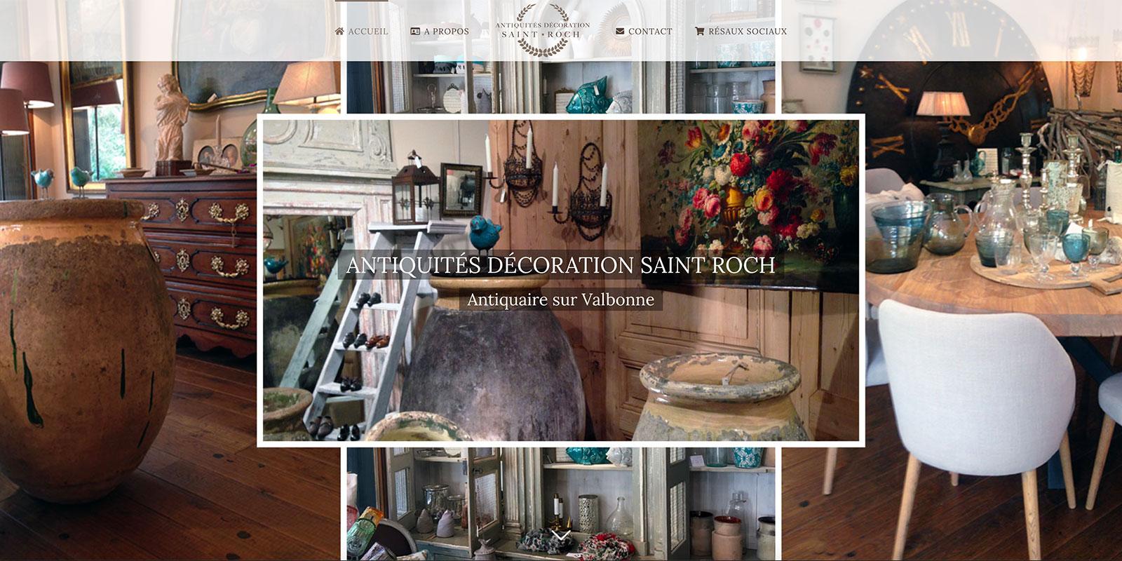 Référence -Site internet Antiquités Décoration Saint Roch - Netcom Agency - Communication numérique