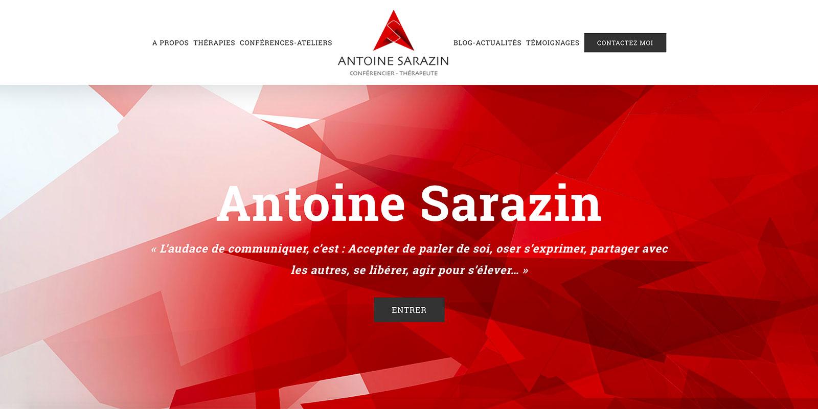 Référence -Site internet Antoine Sarazin - Netcom Agency - Communication numérique