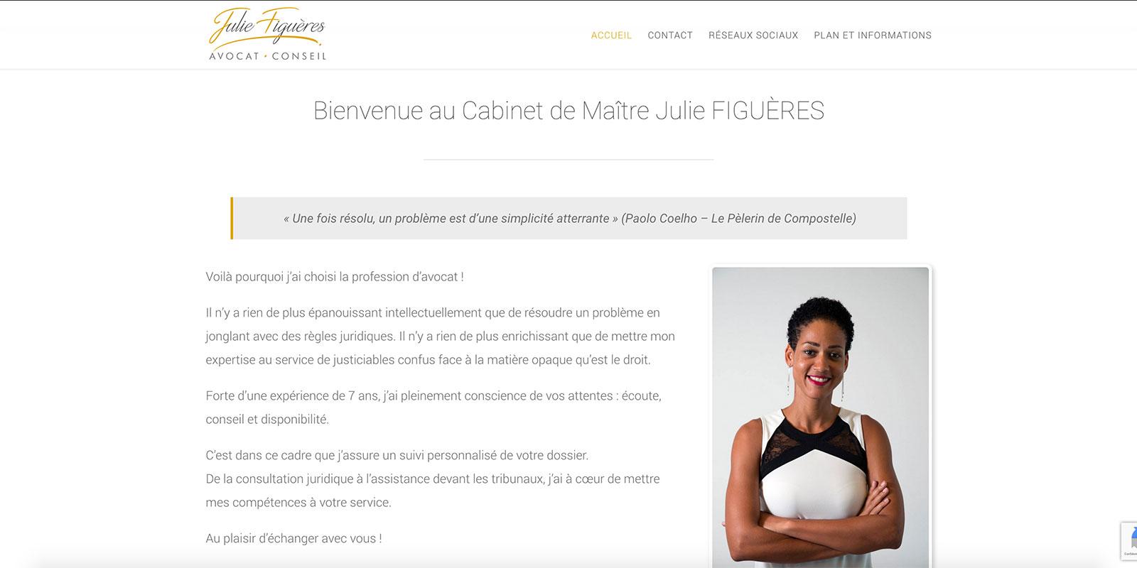 Référence -Site internet Julie Figuères - Netcom Agency - Communication numérique