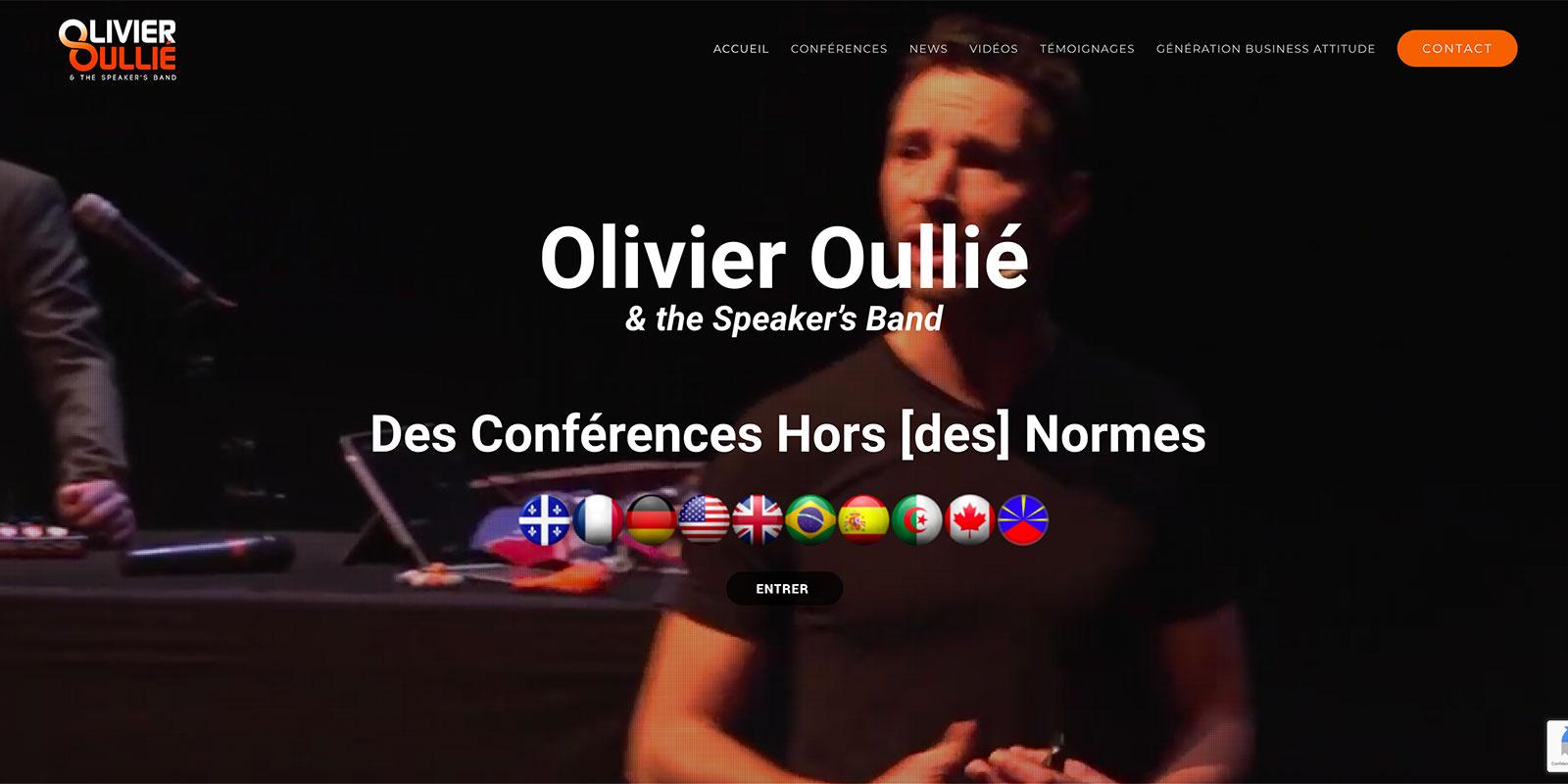 Référence -Site internet Olivier Oullié - Netcom Agency - Communication numérique