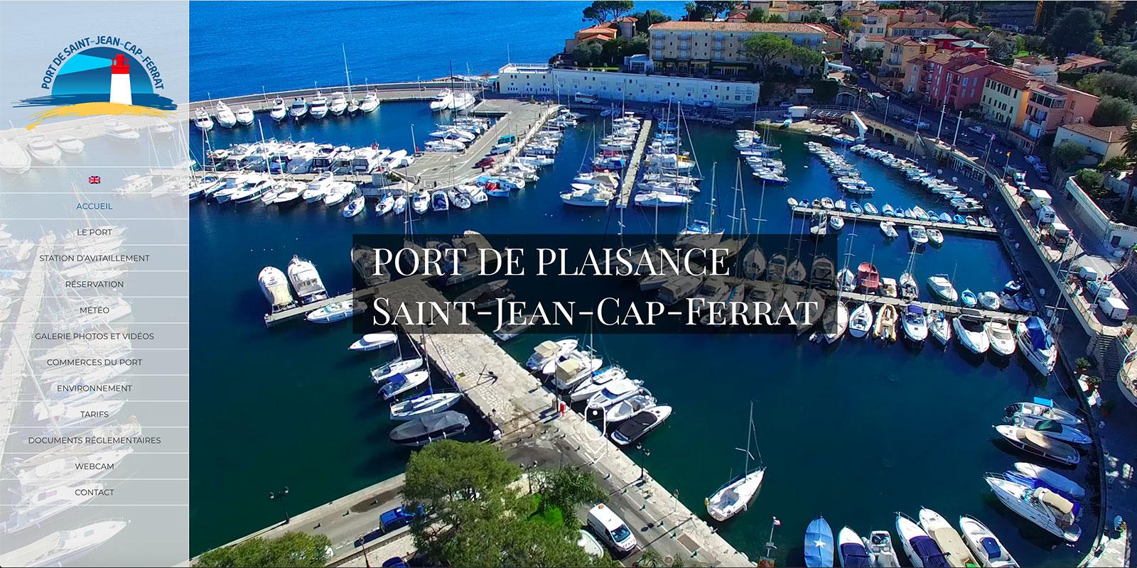 Référence -Site internet Port de Saint Jean Cap Ferrat - Netcom Agency - Communication numérique