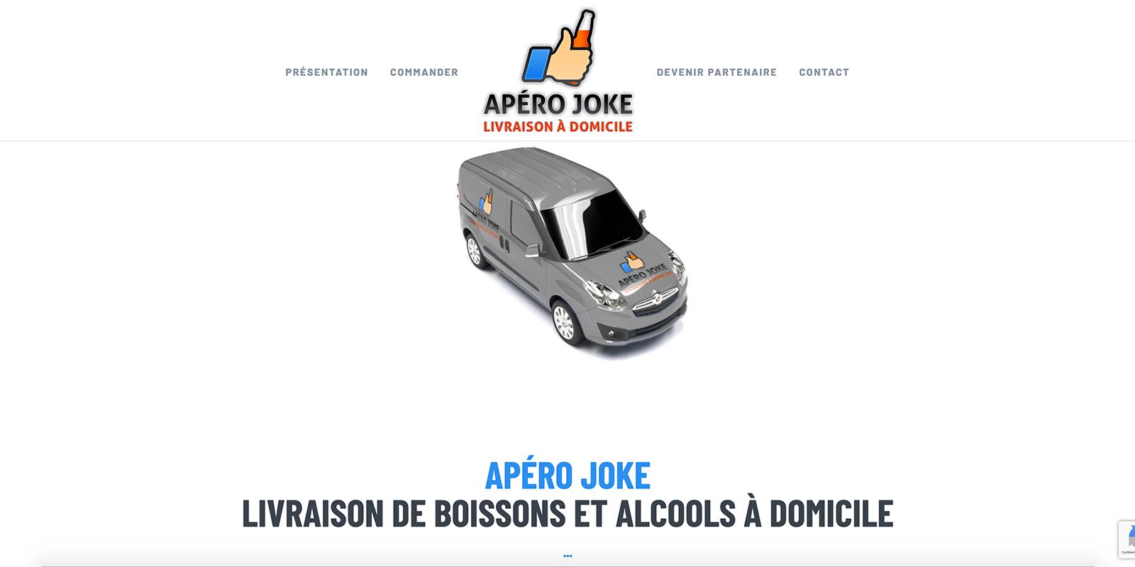 Référence - site de la marque Apéro Joke - Netcom Agency - Communication numérique