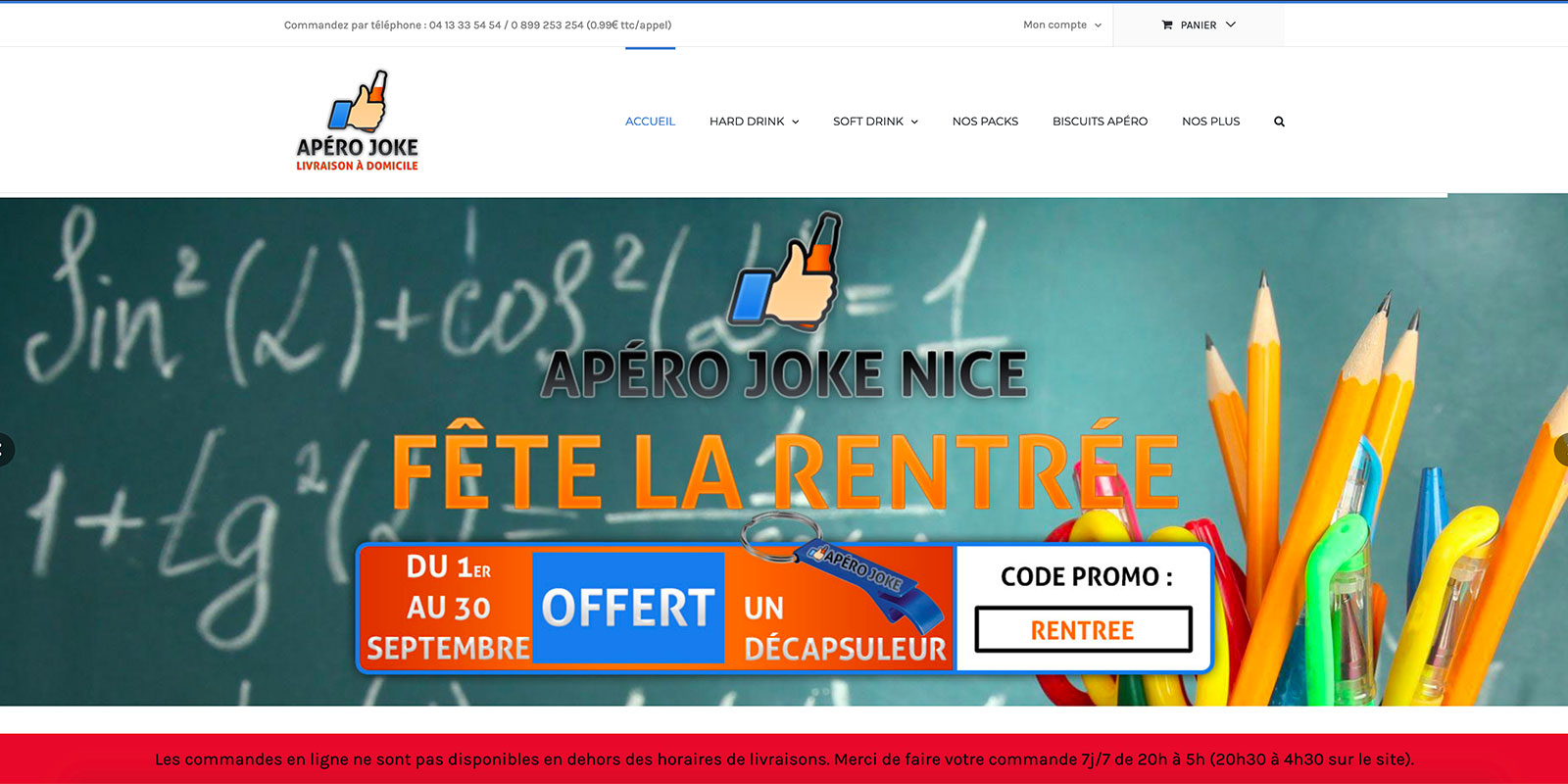 Référence - Site e-commerce Apéro Joke - Netcom Agency - Communication numérique