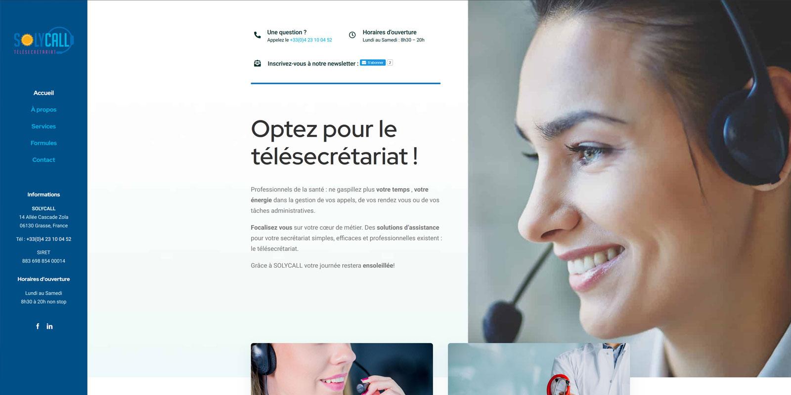Référence - Solycall : agence experte en services de télésecrétariat pour professionnels de la santé - Netcom Agency - Communication numérique
